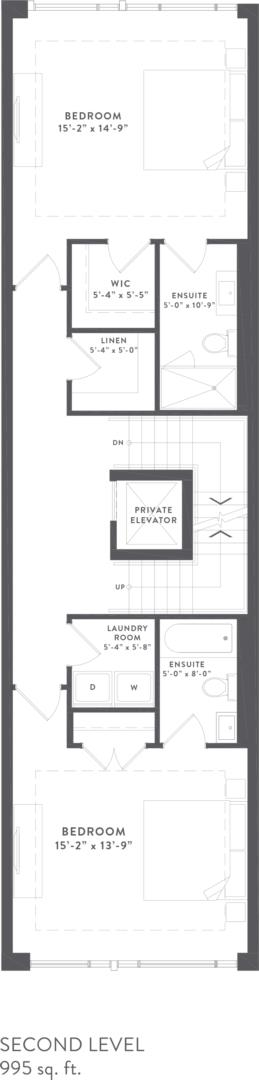 Townhome Collection B Floorplan 3