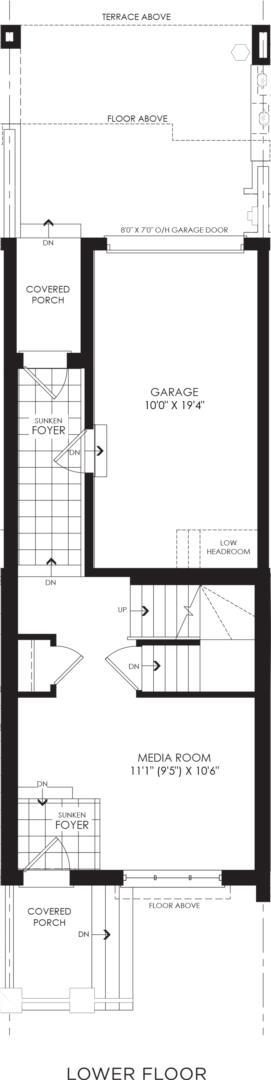 BLOCK 19, ELEV. A3 REV, UNIT 2 Floorplan 1