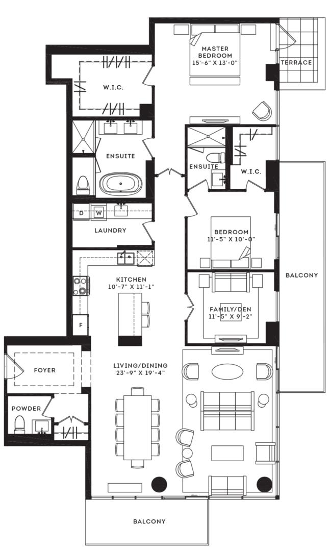 The Plaza Floorplan 1
