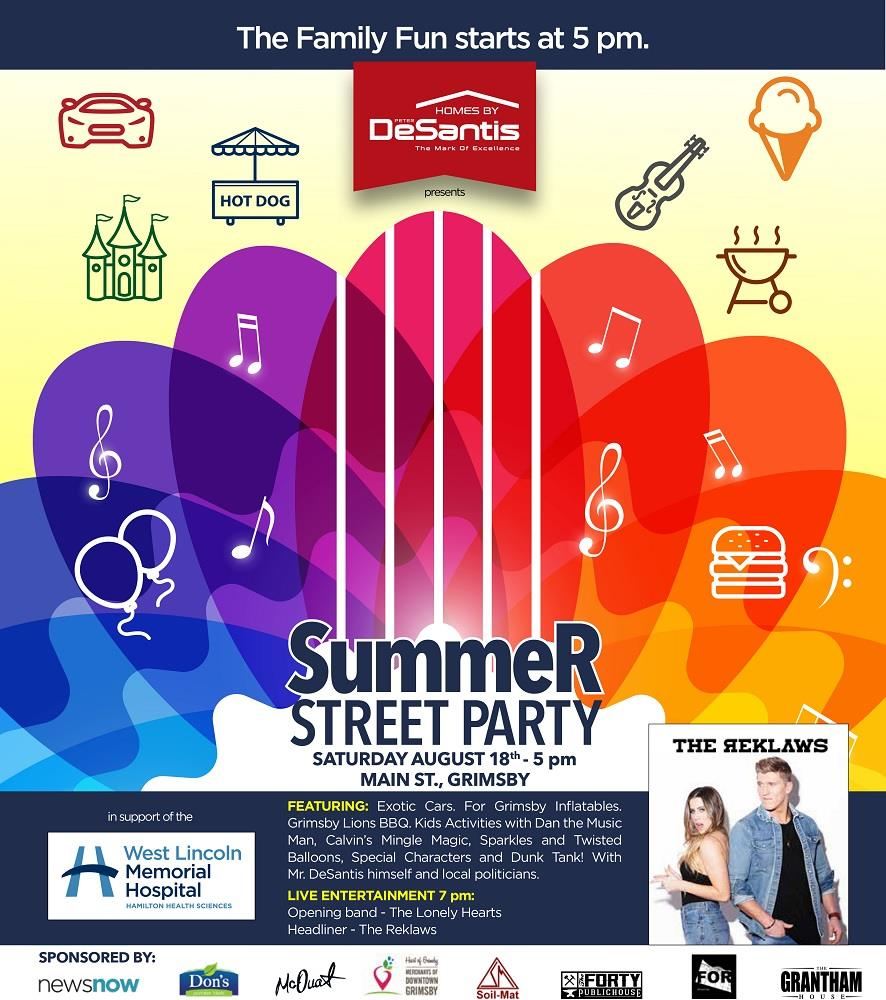 Summer Street Party in Grimsby, hosted by Homes By DeSantis