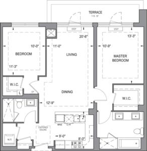 Building B - Penthouse Suites - 2G+T