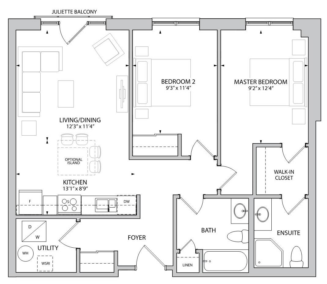 The Yardley Floorplan 1