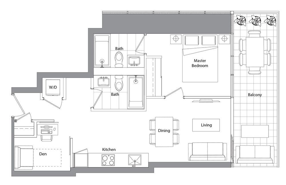 Lower Typical (West Tower) 06 Floorplan 1
