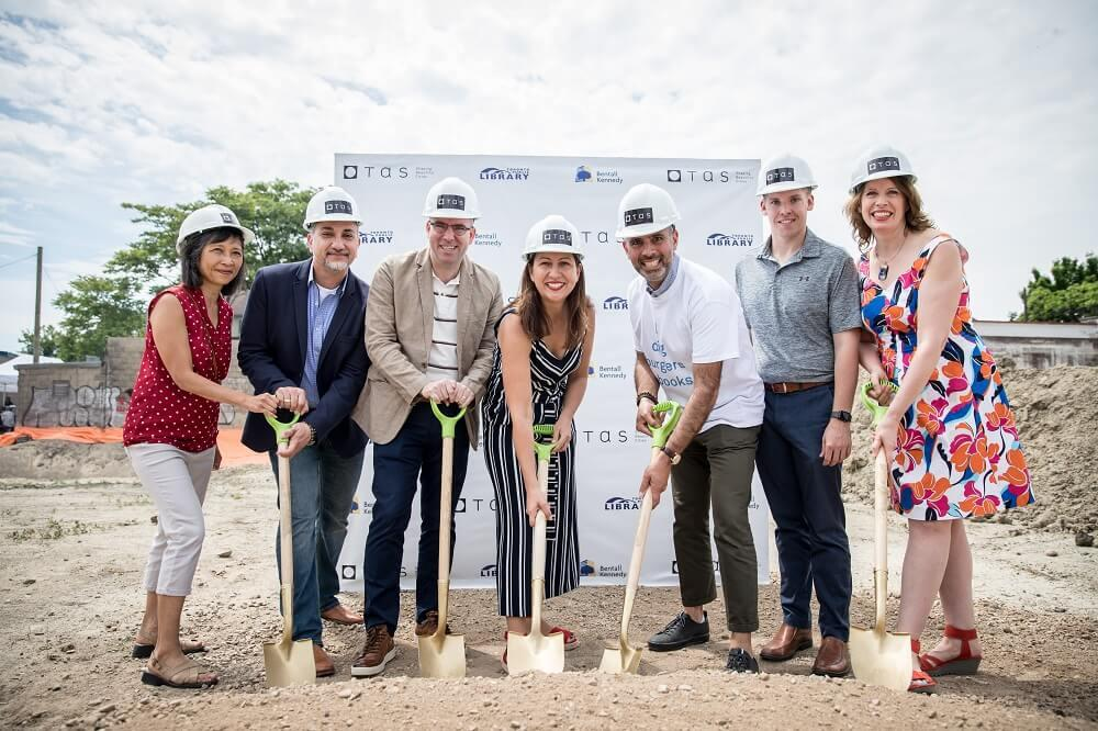Groundbreaking event for 299 Campbell by TAS
