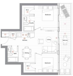 Suite 02 Floorplan 1