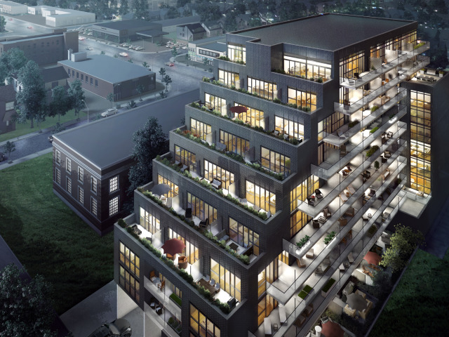 On The Danforth in Toronto by DIAM Developments is under construction