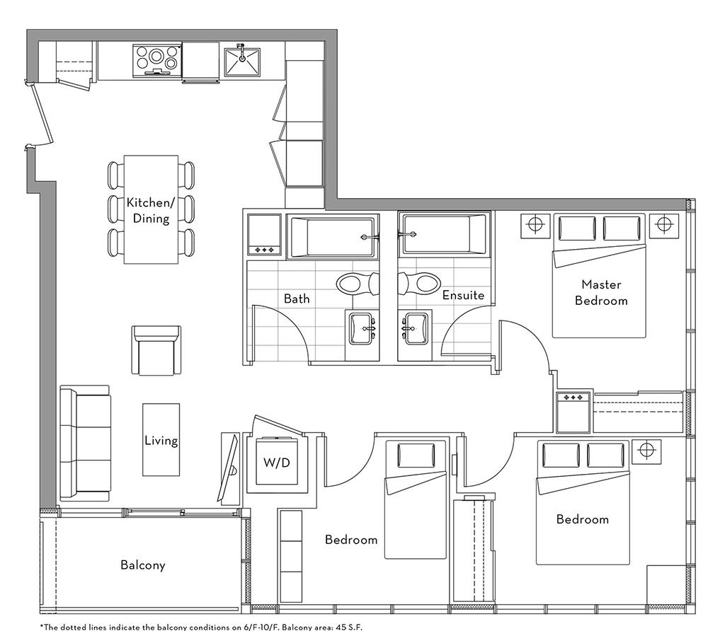 The Lakefront Collection - 015 Floorplan 1