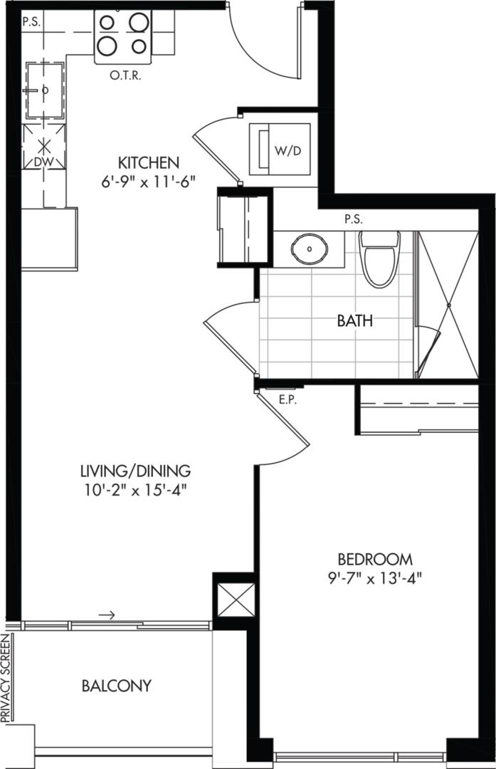 1-A (BF) Floorplan 1