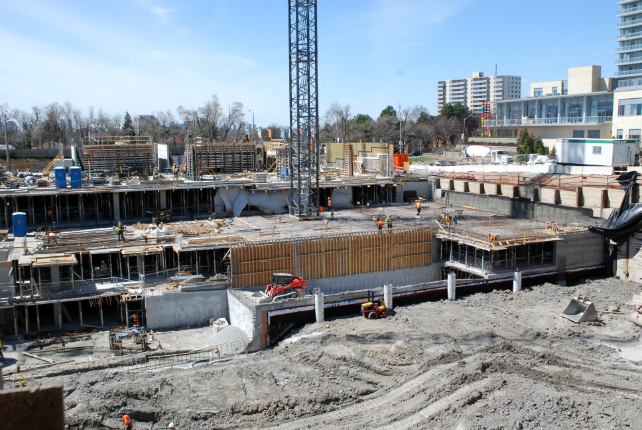The Colours of Emerald City is at street level and construction is moving quickly! Image
