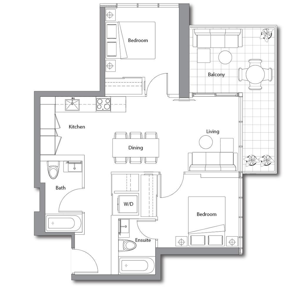 East Tower 12 Floorplan 1