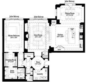 Barton - PH5 Floorplan 1