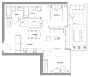 East Tower Upper 01 Floorplan 1