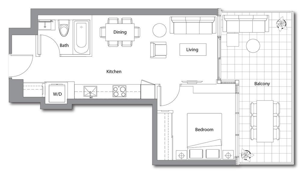 East Tower 11 Floorplan 1