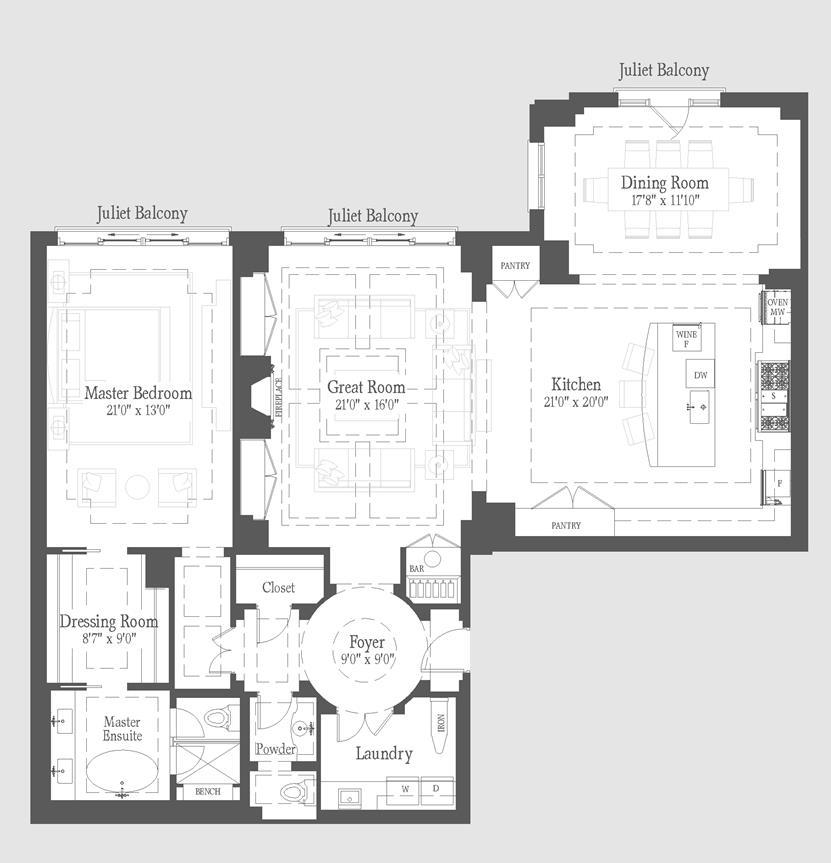 Barton - 205 Floorplan 1