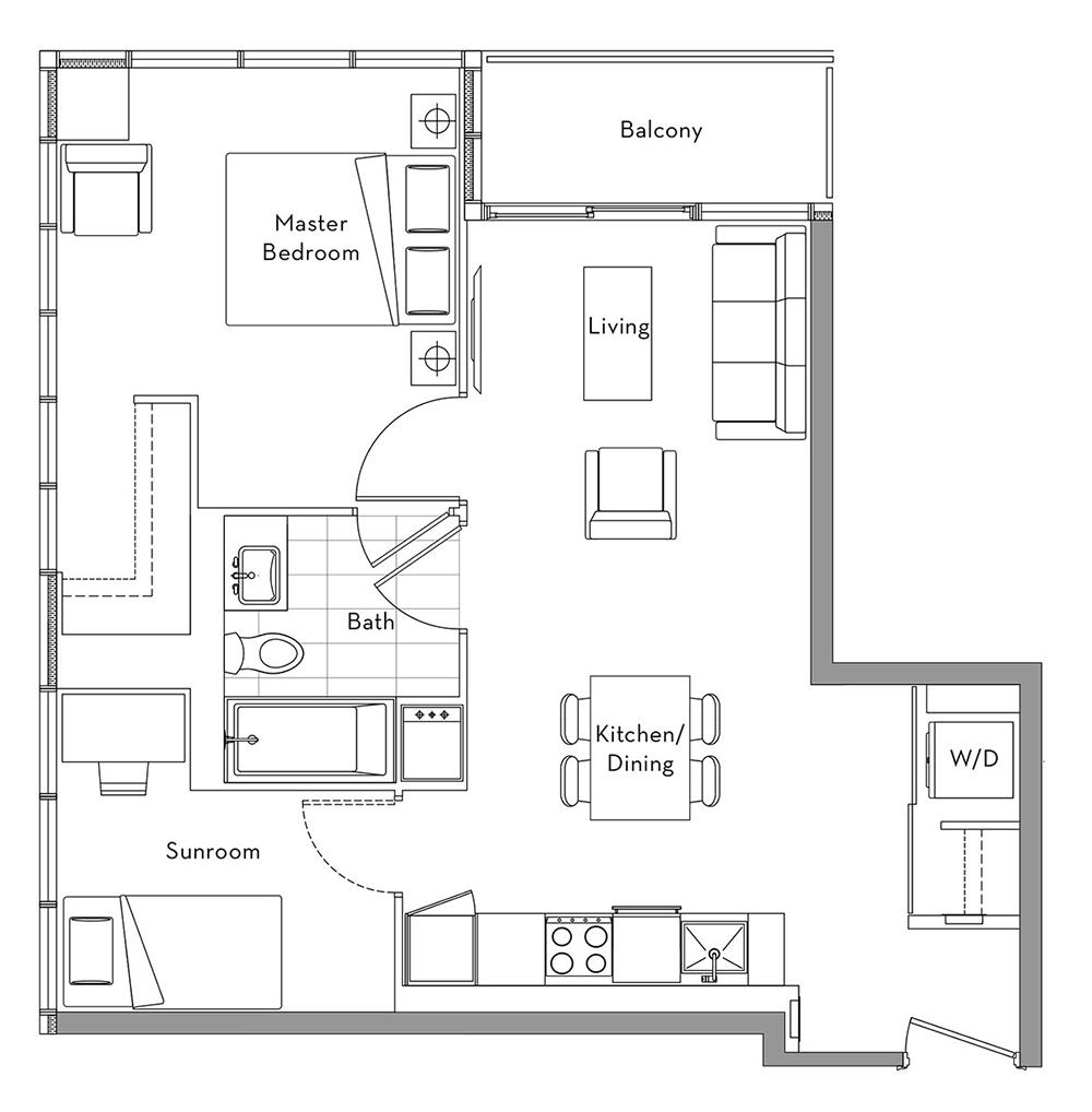 The Lakefront Collection - 006 Floorplan 1