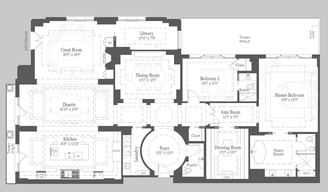 Tetherington - 201 Floorplan 1