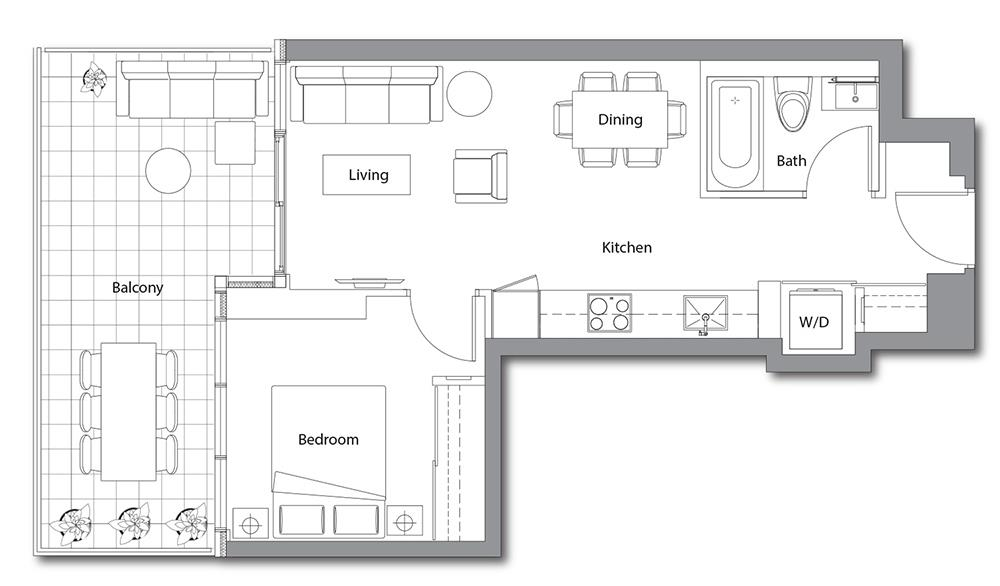 East Tower 03 Floorplan 1