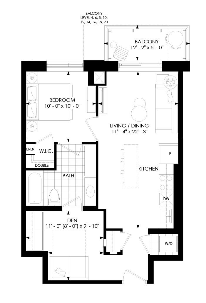 1D-H Floorplan 1