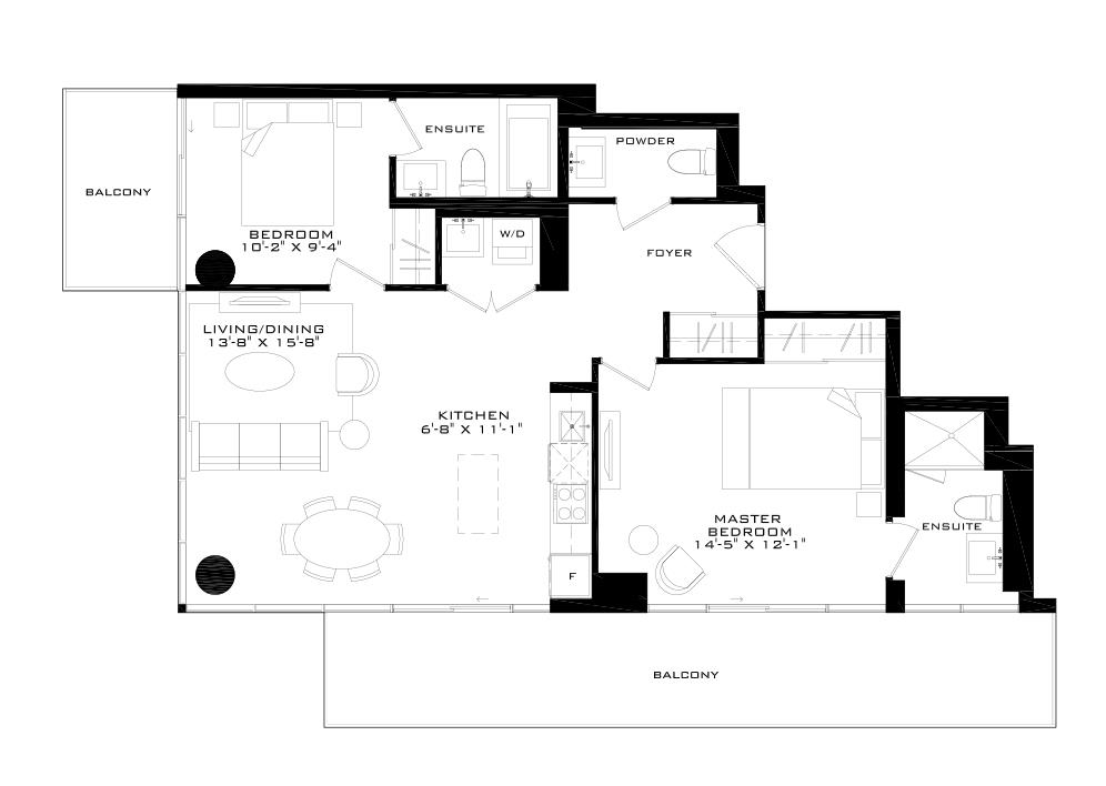 The Madison Floorplan 1