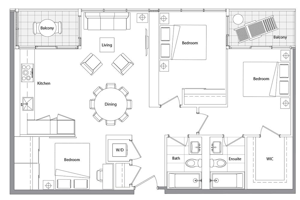 Upper (East Tower) 09 Floorplan 1
