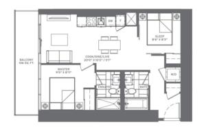 2B-T (Lower) Floorplan 1