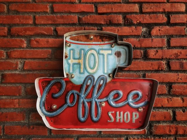 Cottage inspired home decor idea: Hang vintage signage!