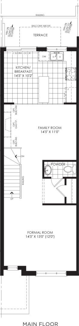BLOCK 4, ELEV. B2 REV, UNIT 3 Floorplan 2