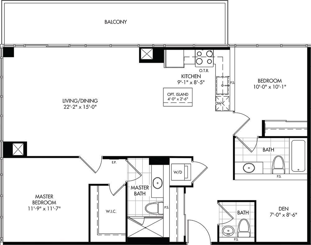 2D-D Floorplan 1