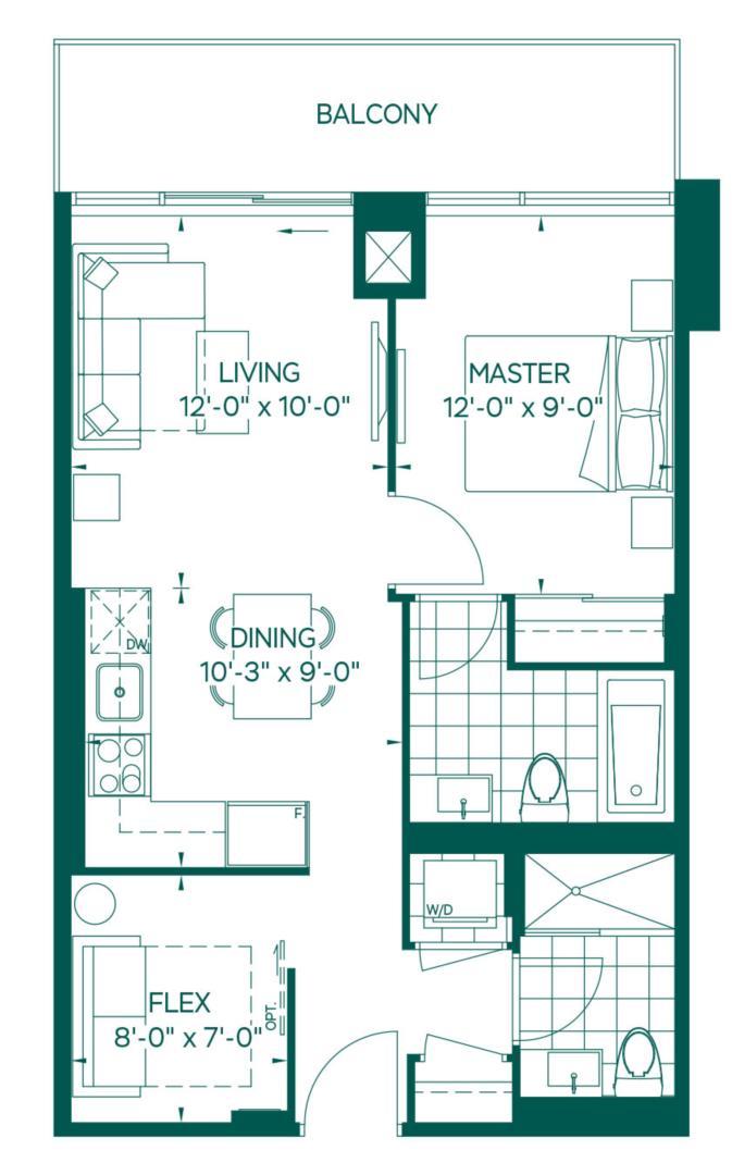 Tower Collection - Rainier Floorplan 1