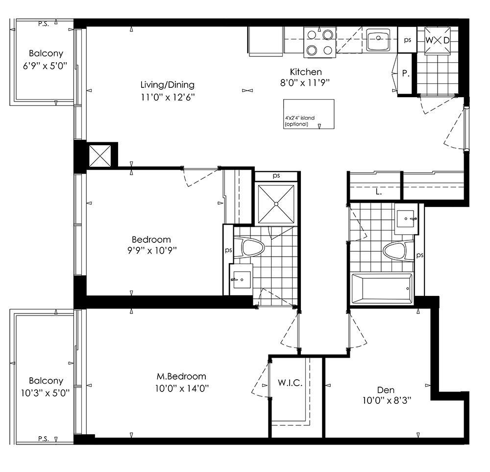 2G+D Floorplan 1