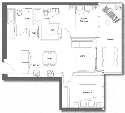 Upper House Suite 01 Floorplan 1