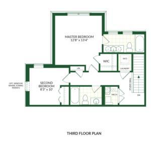 The Lincoln B, Building G Floorplan 3