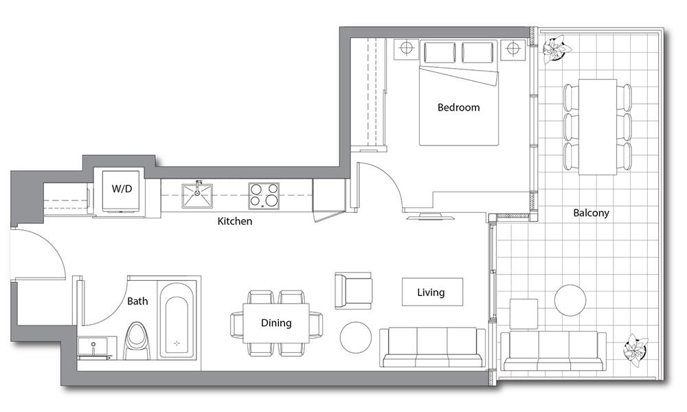 East Tower 10 Floorplan 1