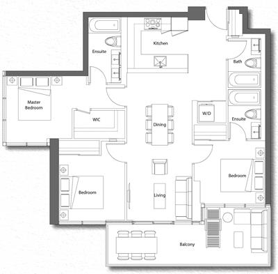 Upper House Suite 03 Floorplan 1