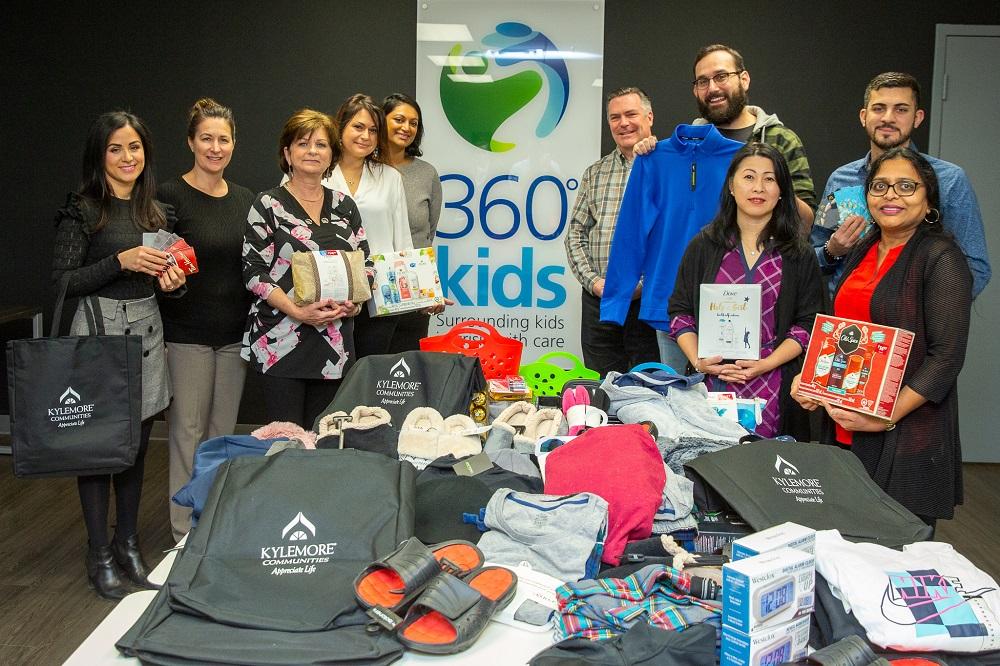 Kylemore donating to 360 Kids