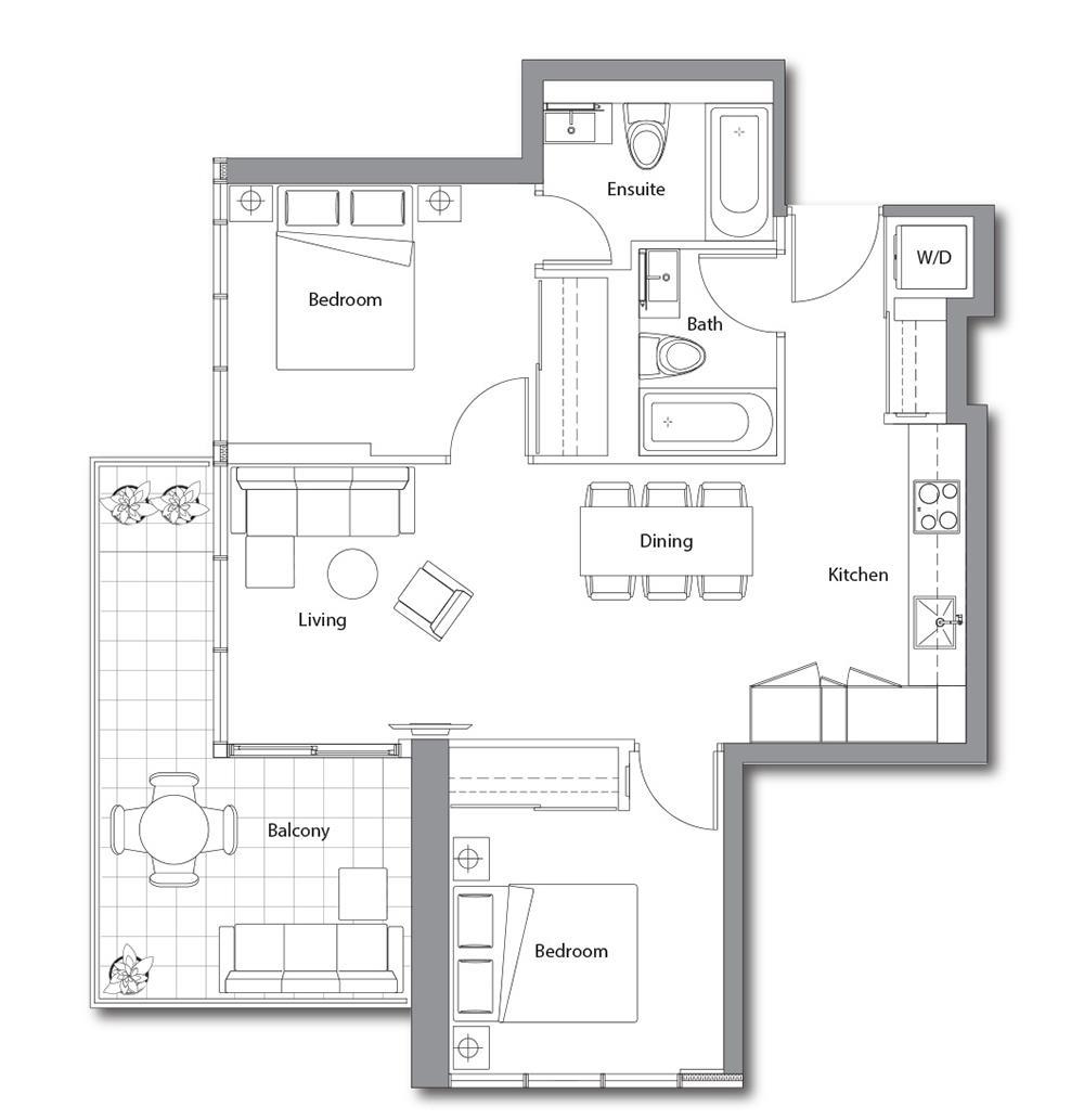 East Tower 06 Floorplan 1