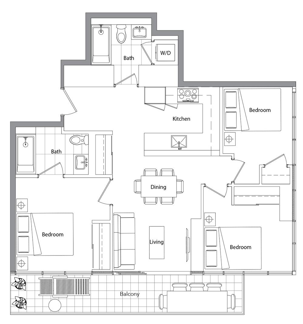 Upper (West Tower) 07 Floorplan 1