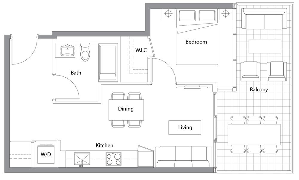 West Tower 15 Floorplan 1