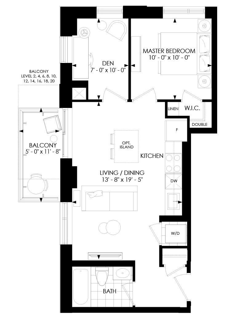 1D-E Floorplan 1