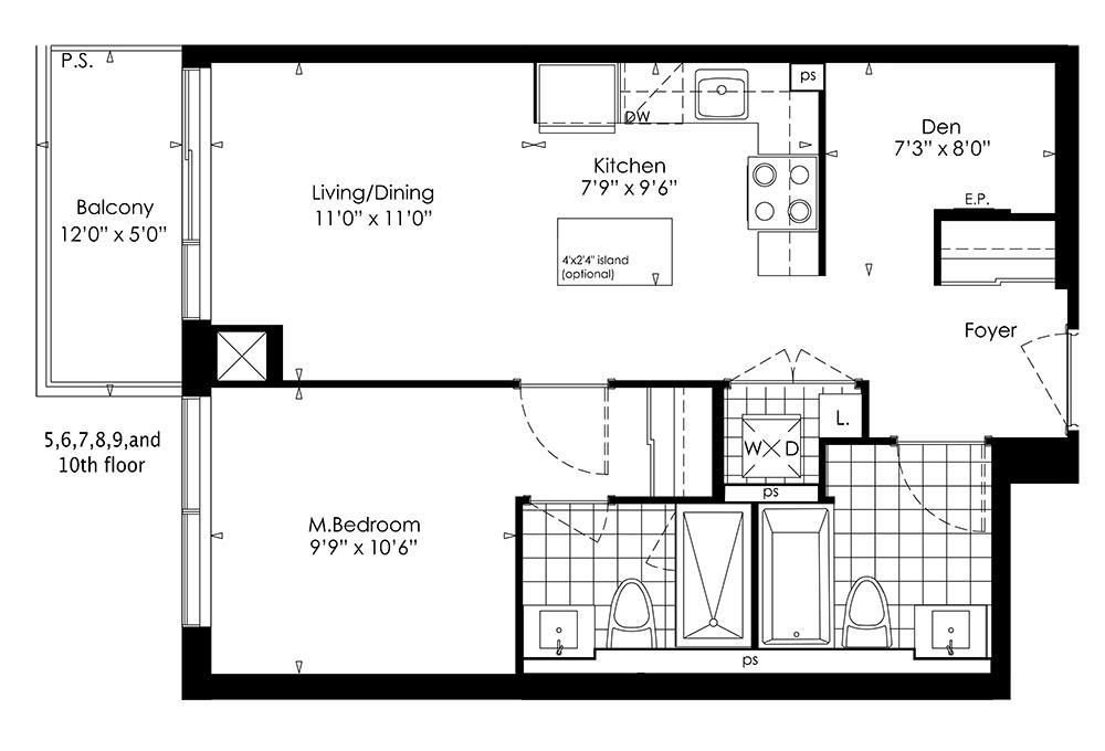 1B+D Floorplan 1
