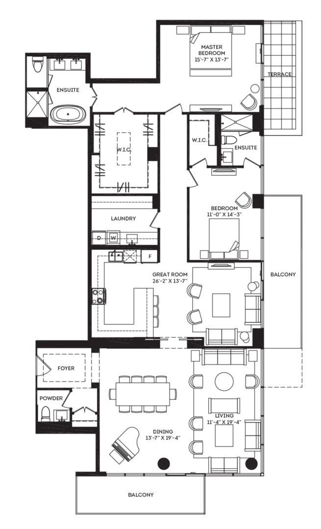 The Penthouse 01 Floorplan 1