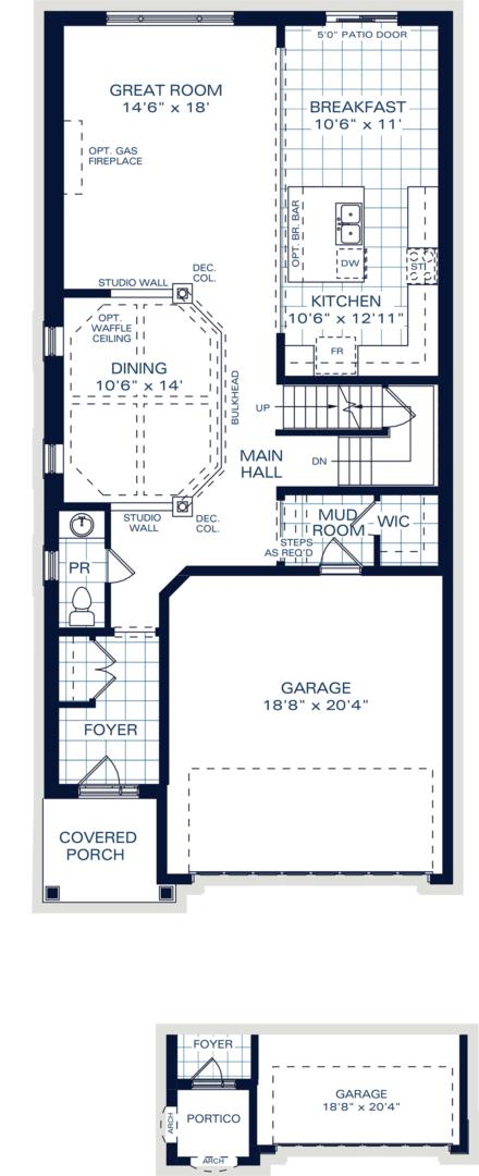 The Hampton B Floorplan 1