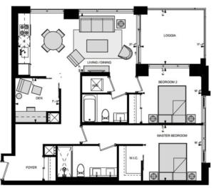 Suite LNE Floorplan 1