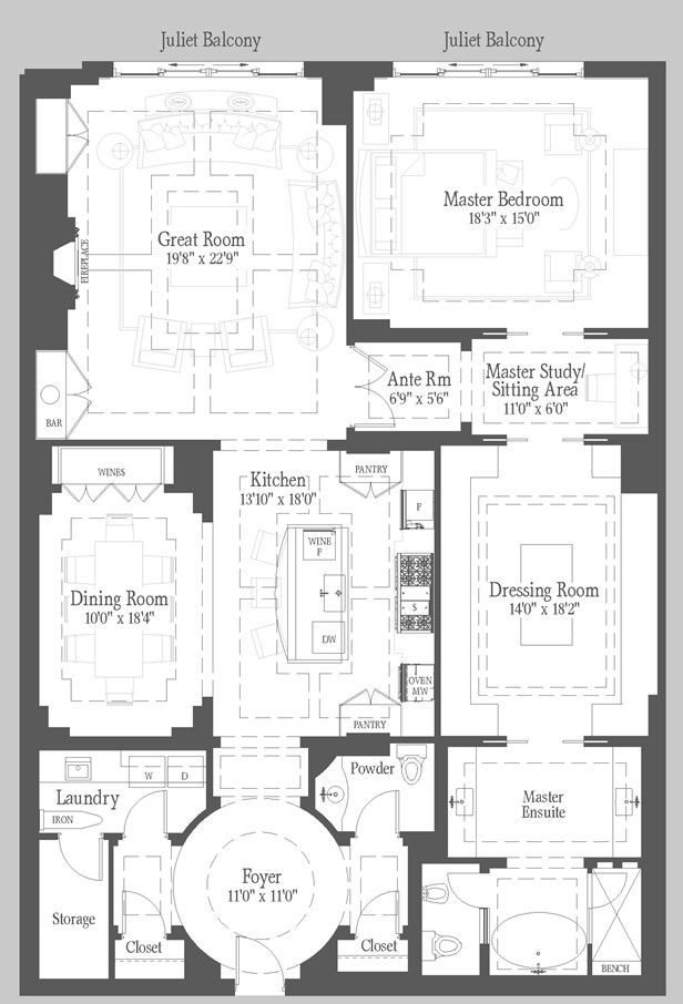 Chisholm - PH8 Floorplan 1