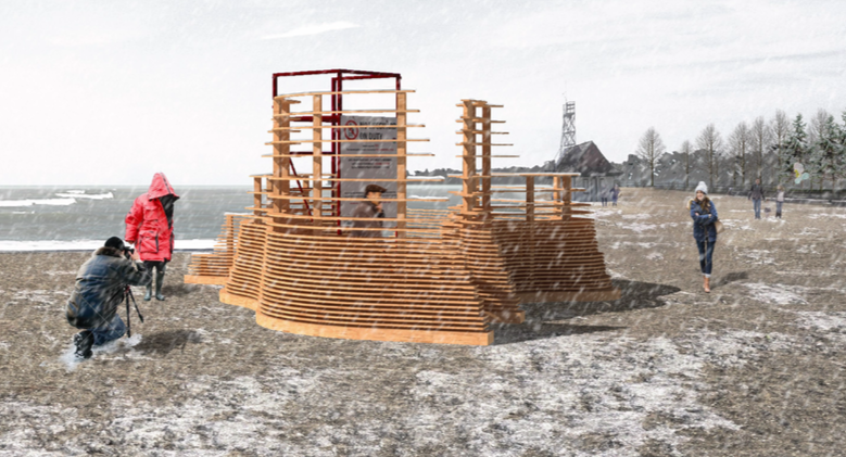 The winners of the 2018 Winter Stations International Design Competition Image