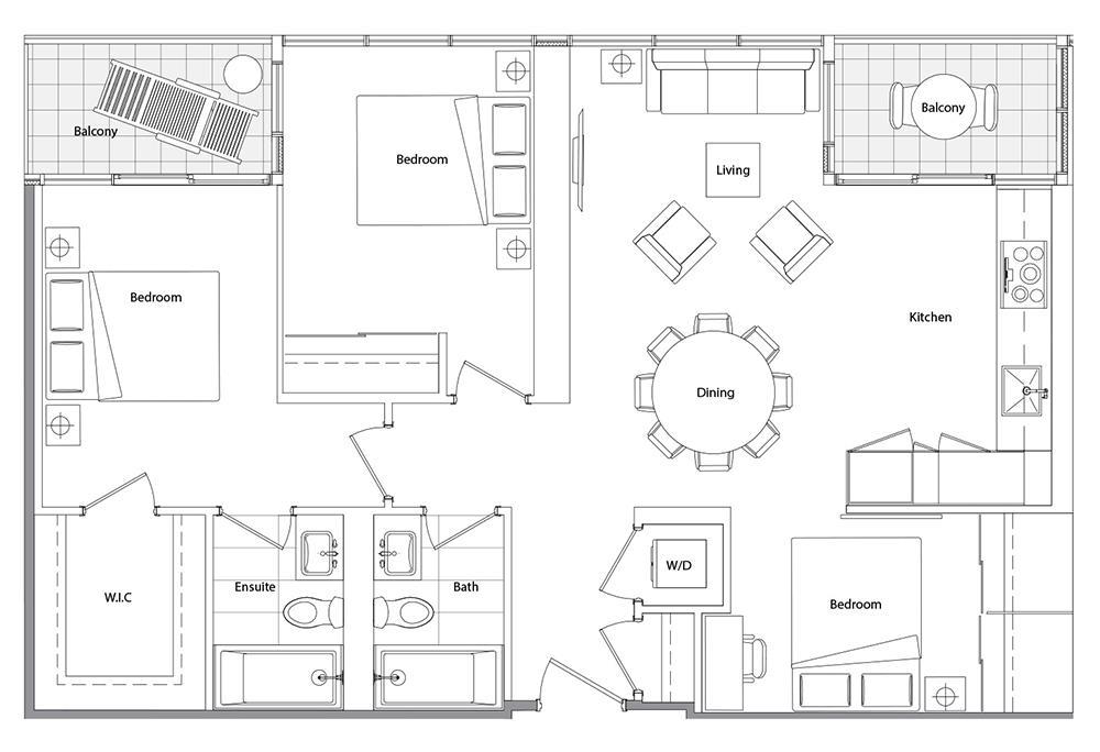 Upper (East Tower) 01 Floorplan 1