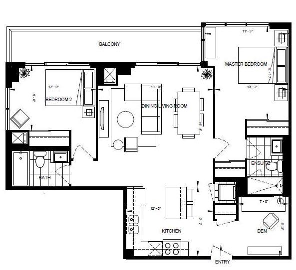 2BD-C Floorplan 1