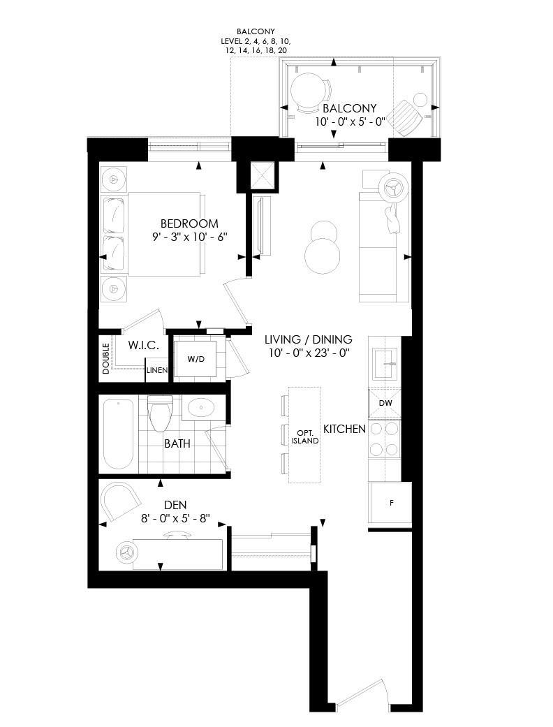 1D-B Floorplan 1