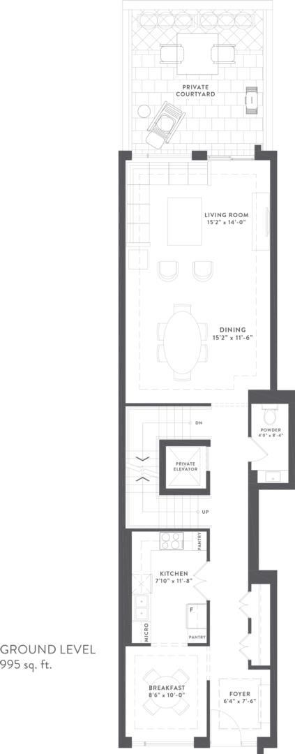 Townhome Collection A Floorplan 2