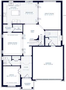 The Killarney C Floorplan 1